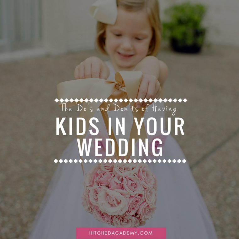 having kids in your wedding